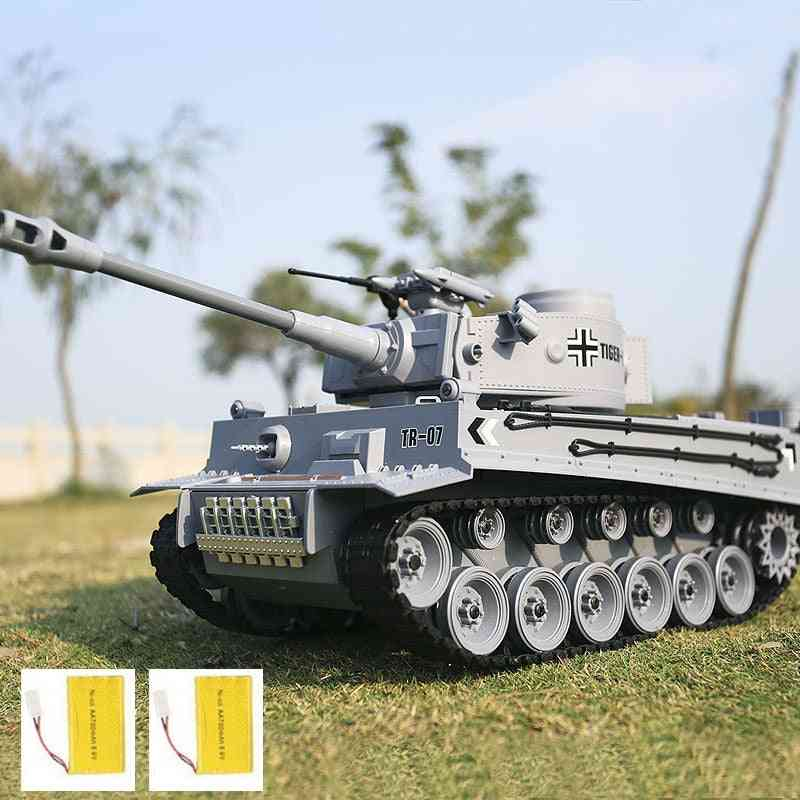German Tiger Battle Simulation, Army Military Rc Tank, Remote Control Smoke & Sound & Bb Bullet & Light Function