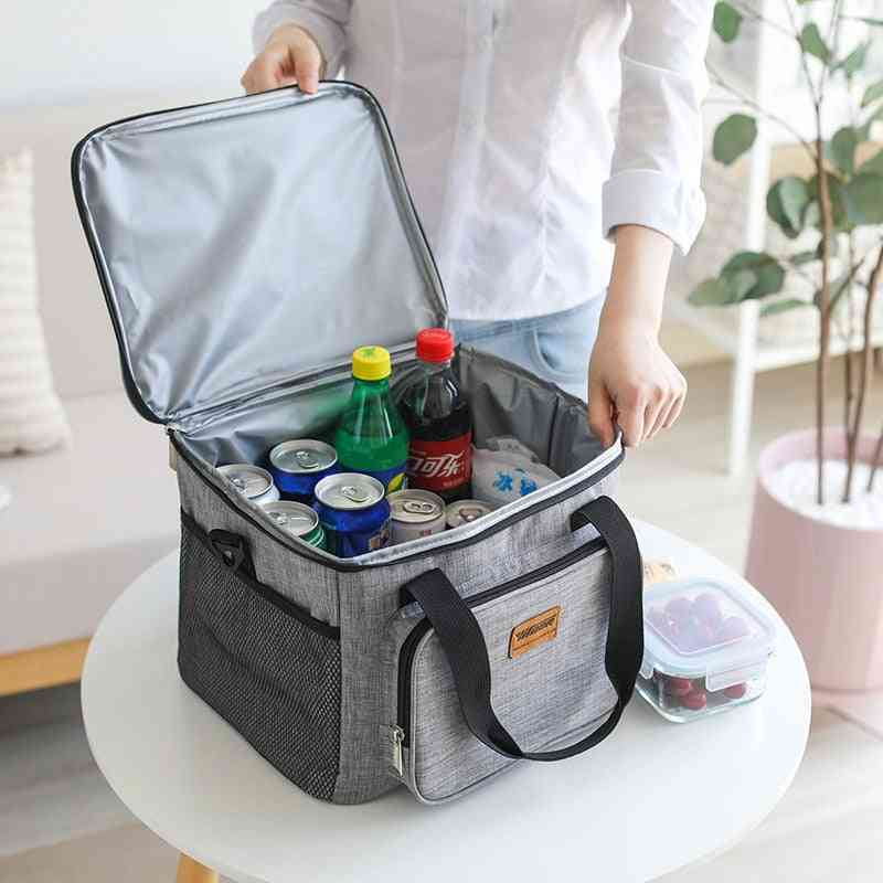 Portable Thermal Cooler Bag Picnic Food Beverage Drink Fresh Keeping Organizer Insulated Lunch Box