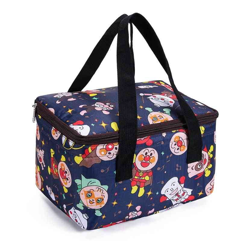 Large Cartoon Cooler Bag Insulated Leakproof Sided Portable Lunch Box