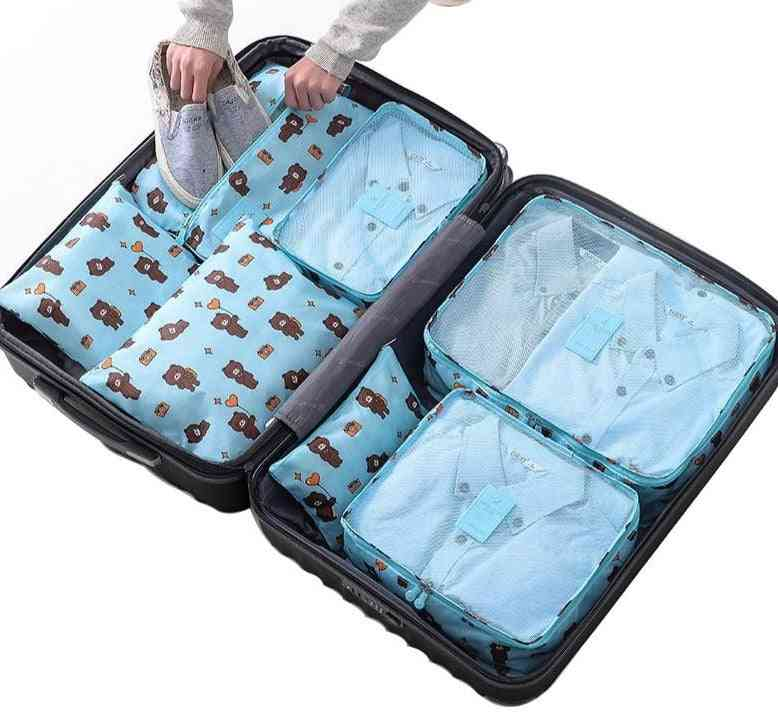 Large Waterproof Polyester Packing Cubes Bag For Clothing