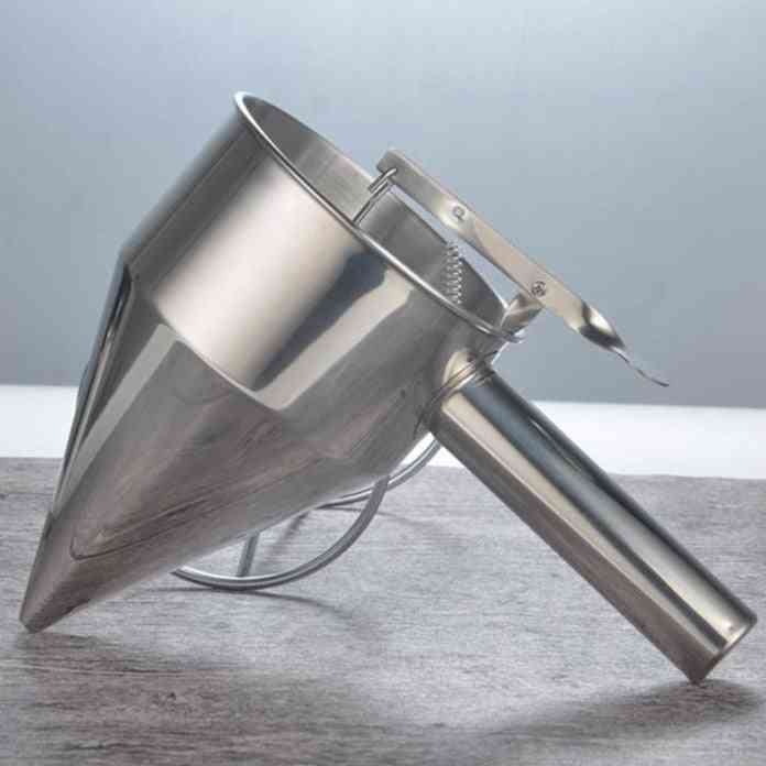 Confectionery Stainless Steel Funnel Dispenser Cake Decorating Tool