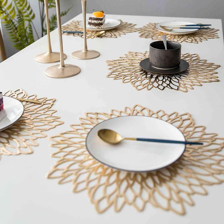 Pvc Hollow Insulation Coaster Pads Table Bowl Mat