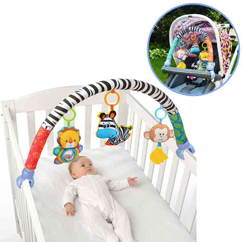 Baby Stroller/bed/crib Hanging For Tots Cots Rattles Seat Cute Plush Stroller Mobile Large Zebra