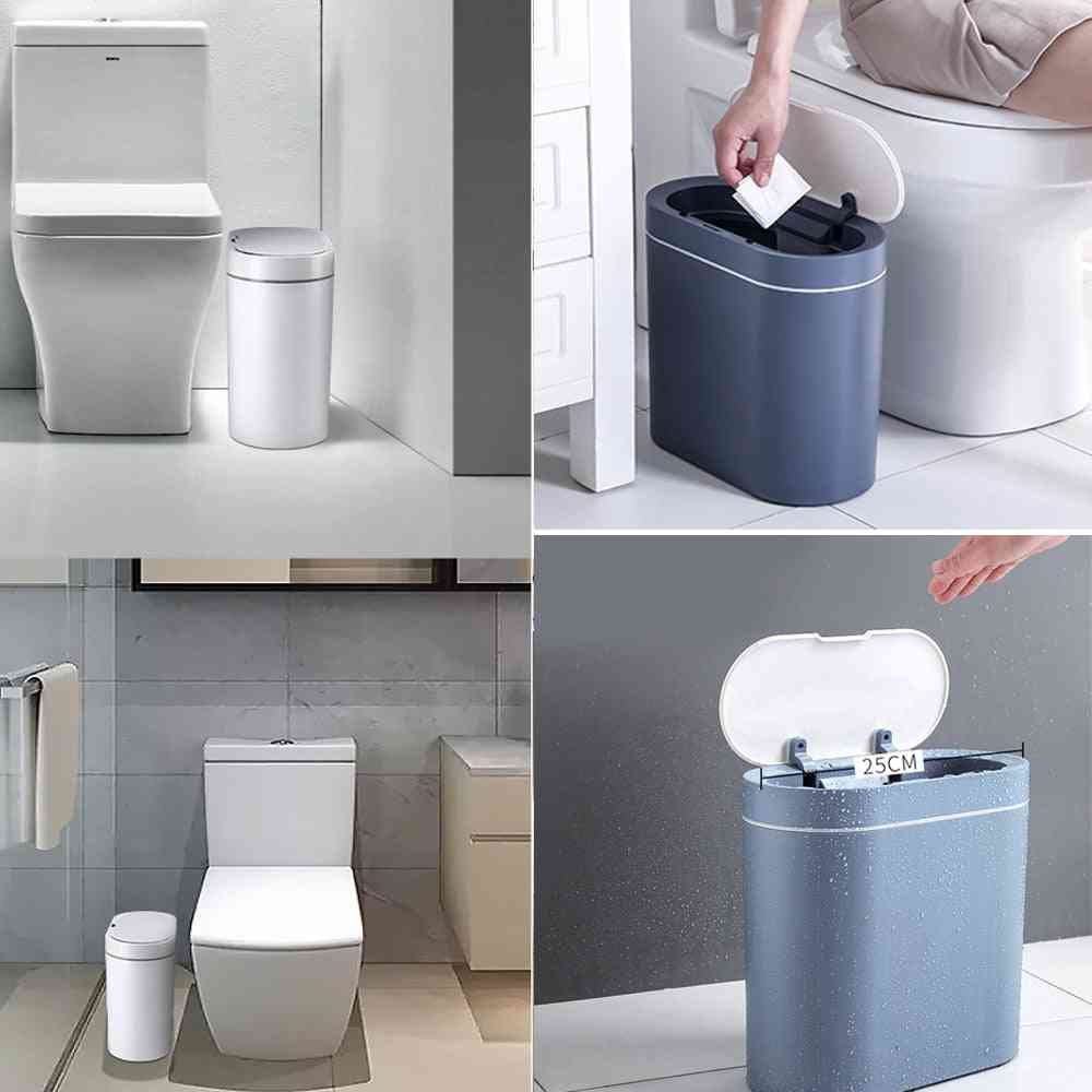 Sensor Induction Trash, Waterproof Toilet Electronic Seam