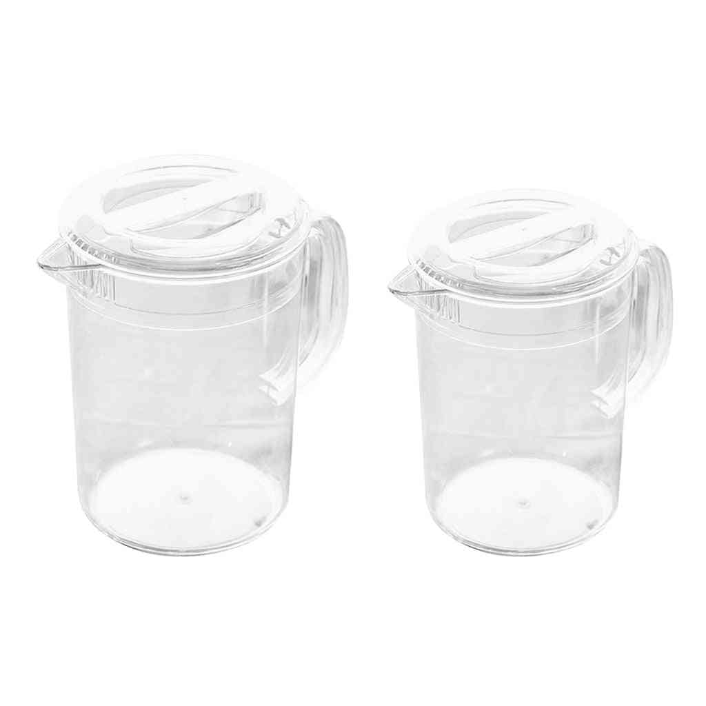Plastic Water Pitcher With Lid, Hot And Cold Water Jar
