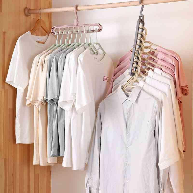 Clothes Hanger Closet, Organizer, Space Saving Multi-port Clothing Rack