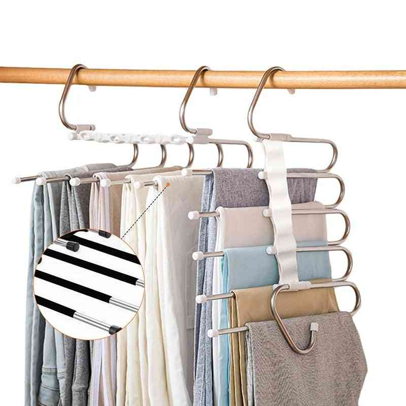 5 In 1 Pant Rack Hanger For Clothes, Multifunction Shelves Closet