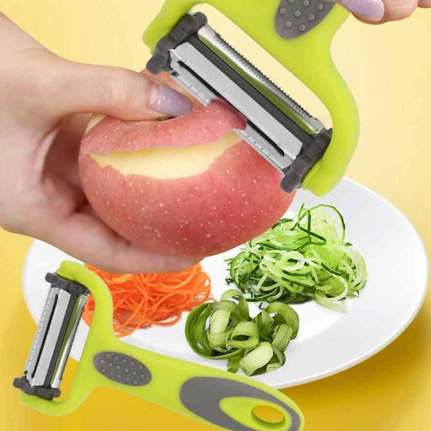 3 In 1 Vegetables Peeler With Stainless Steel Knife