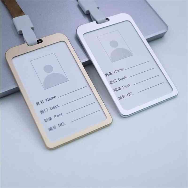 Aluminum Alloy Work Name Card Holder