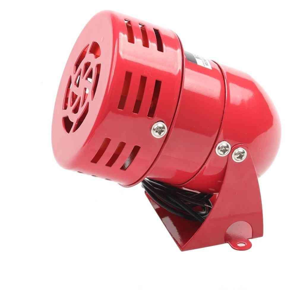 Red Mini Metal Motor Siren Industrial Alarm