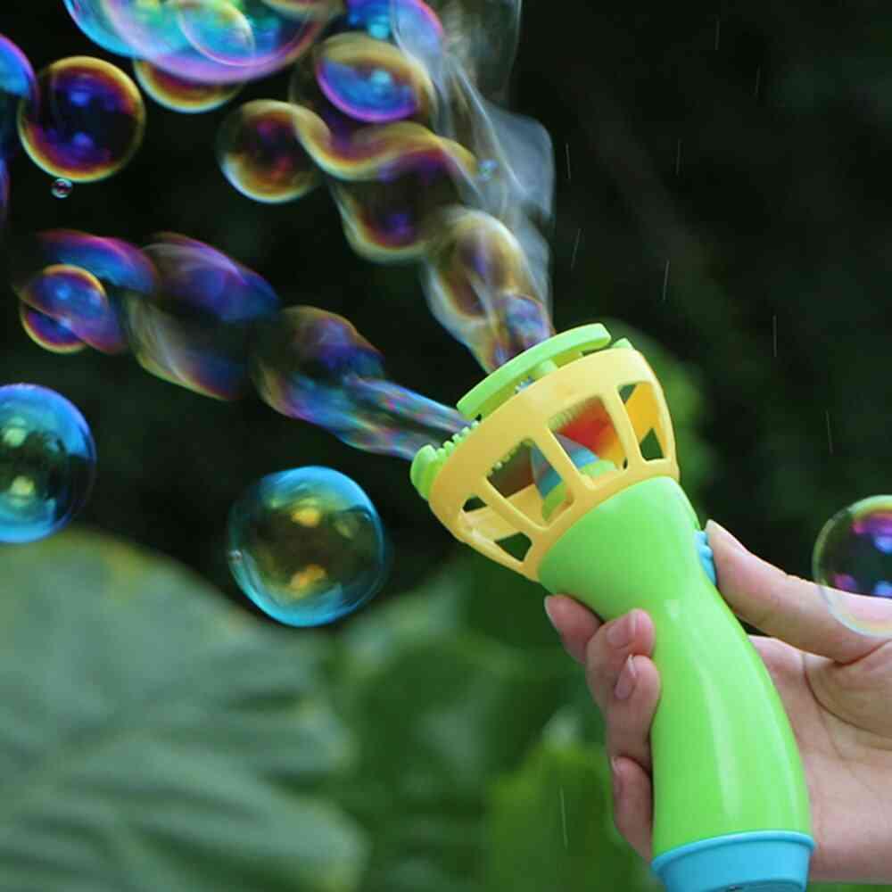 Electric Bubble Wands Machine Maker, Automatic Blower, Soap Bubbles, Durable Kids