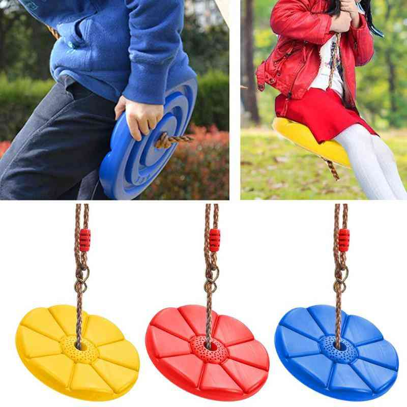 Kids Tree Swing Climbing Rope With Platforms, Disc Seat, Outdoor, Indoor Swings And Set Accessories