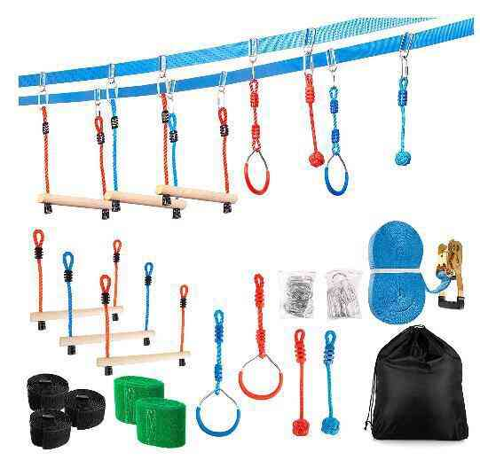 Kids Garden Swing Rings, Climbing Toy, Outdoor Training Activity, Safety Sports Rope, Hanging Fitness Equipment