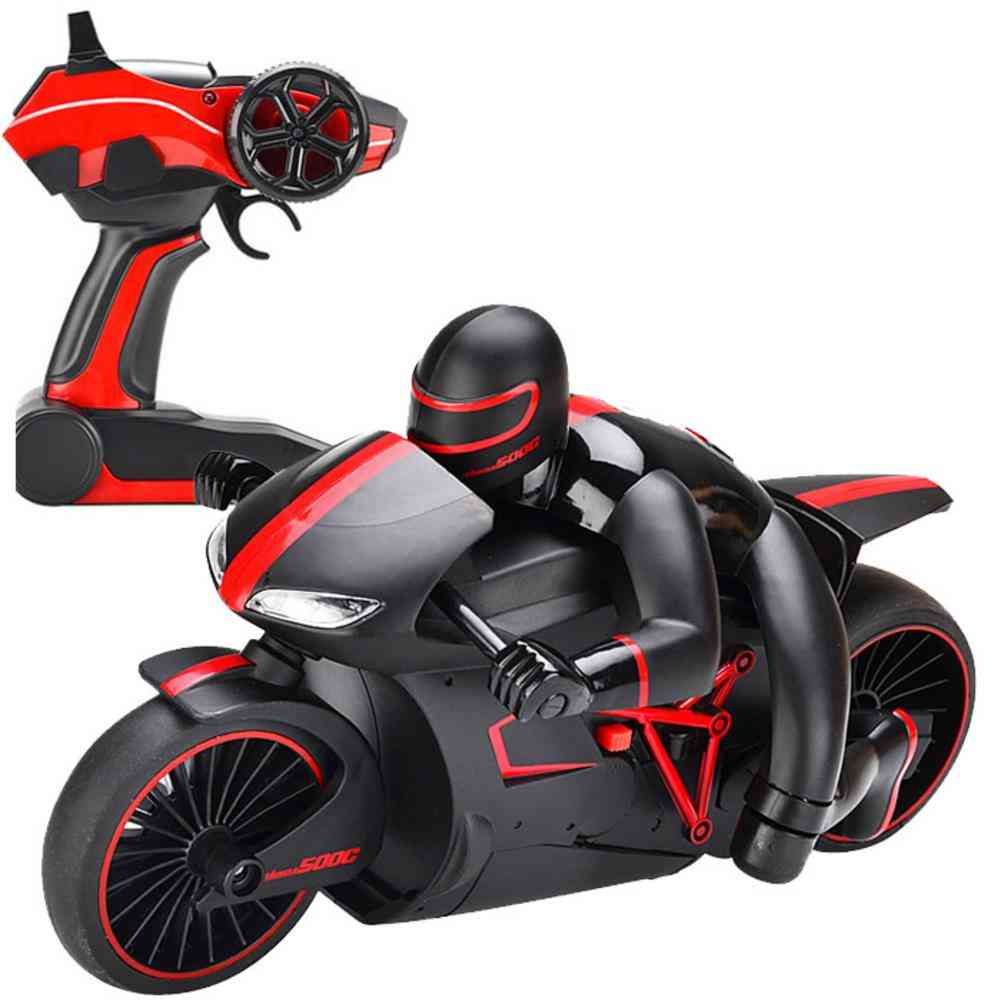 Mini Rc Motorcycle With Cool Light, Motorbike Model Toy, Remote Control Drift Motor For Boy