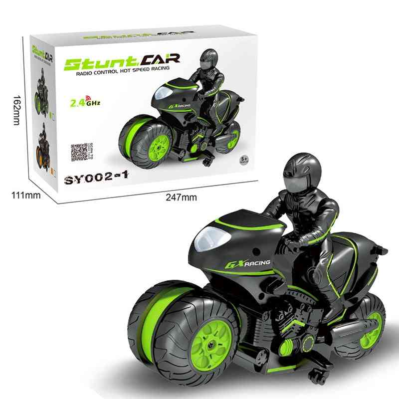 Child Toy Stunt Model Remote Control Car, Figure Drift, Rotating High Speed, Hand-made Motorcycle Ornaments, Boy