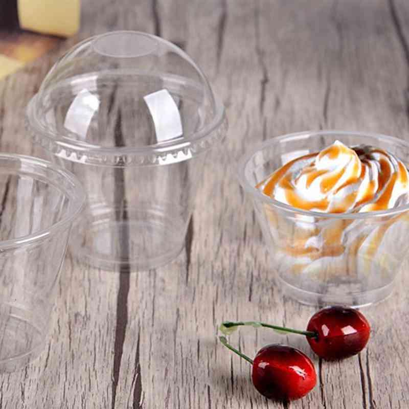 Transparent Disposable Plastic Cups With Lids