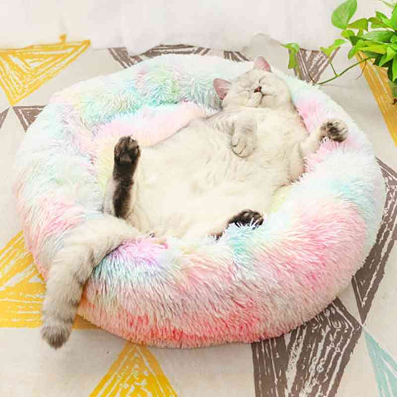 Cotton & Seamless Long Plush Pet Bed - Set 1