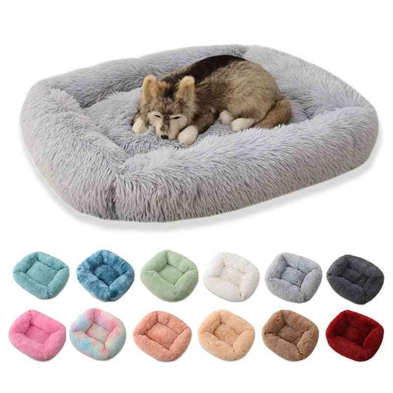Pet Super Soft Winter Warm Sleeping Square Long Plush Mat