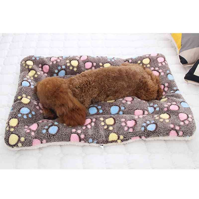 Pet Soft Flannel Blanket Sleeping Cover Towel Cushion