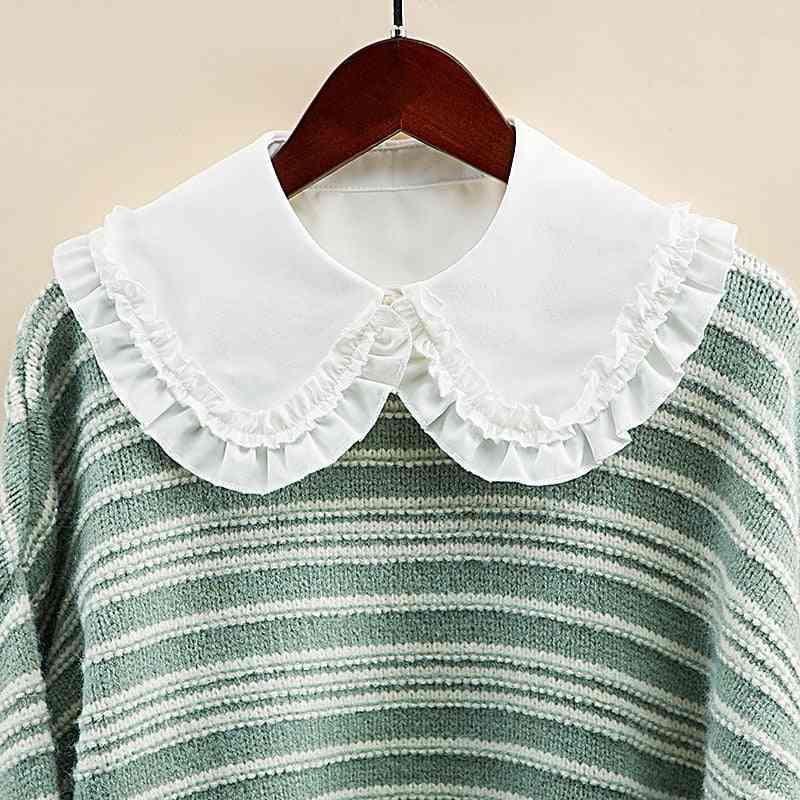 White Fake Collar Shirt Women False Collars