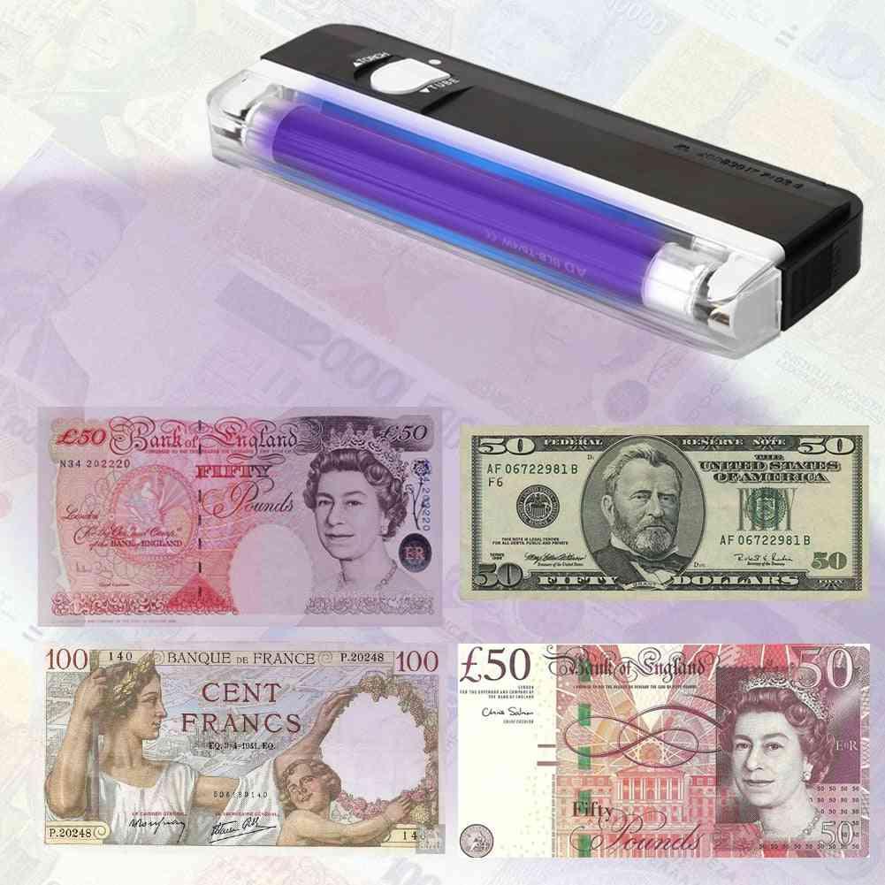 Handheld Uv Led Light Torch Money Detector Lamp