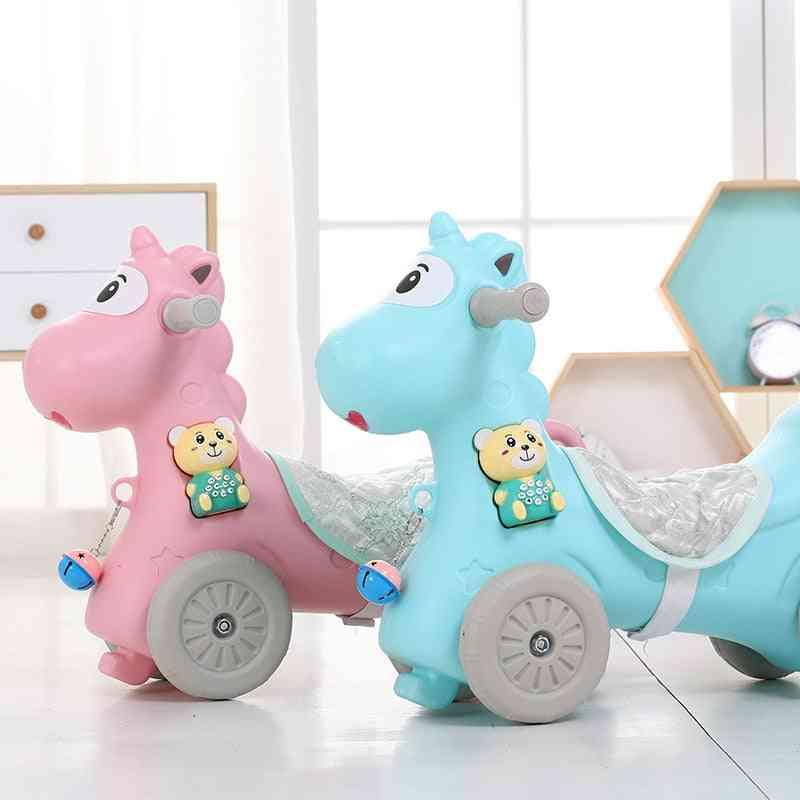 Infant Animal Rocking Horses Baby Stroller Kids Animal Multi-functional Chairs Trojan Walker