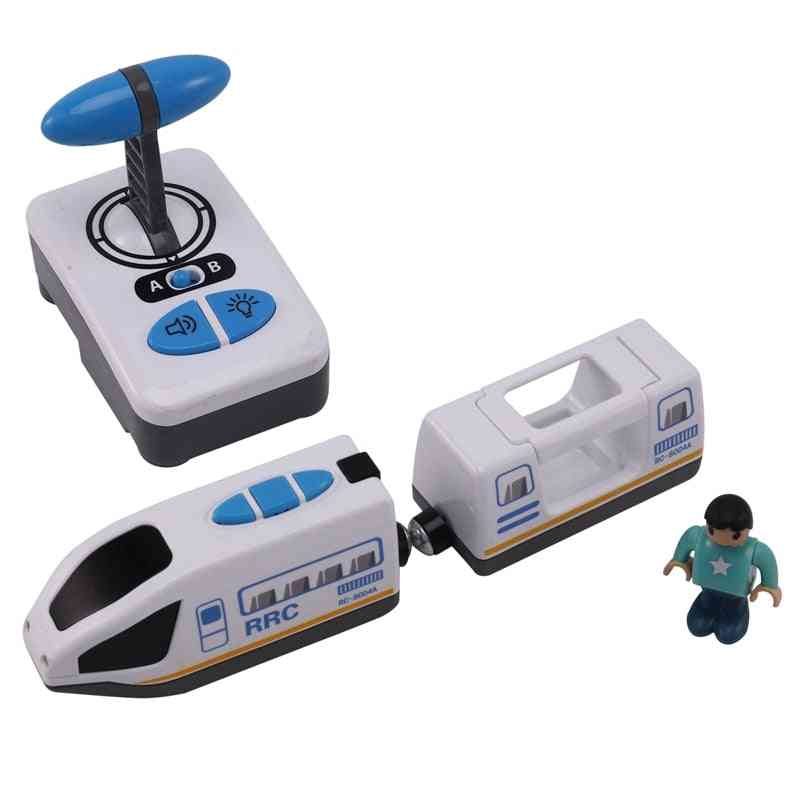 Electric Rc Car Remote Control Blue White Electric Train Car For