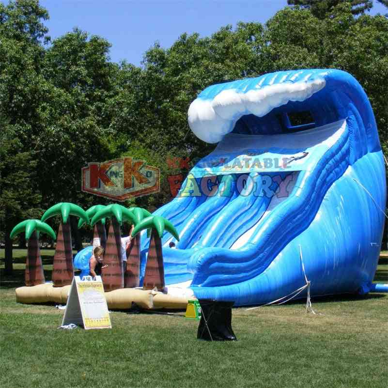 Commercial Inflatable Amusement Park Pool With Slide Water Games Inflatable Aqua Amusement Park