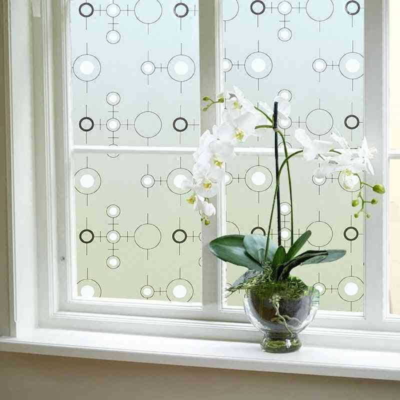 Decorative Privacy Vinyl Window Adhesive Film Window Sticker - Set 1