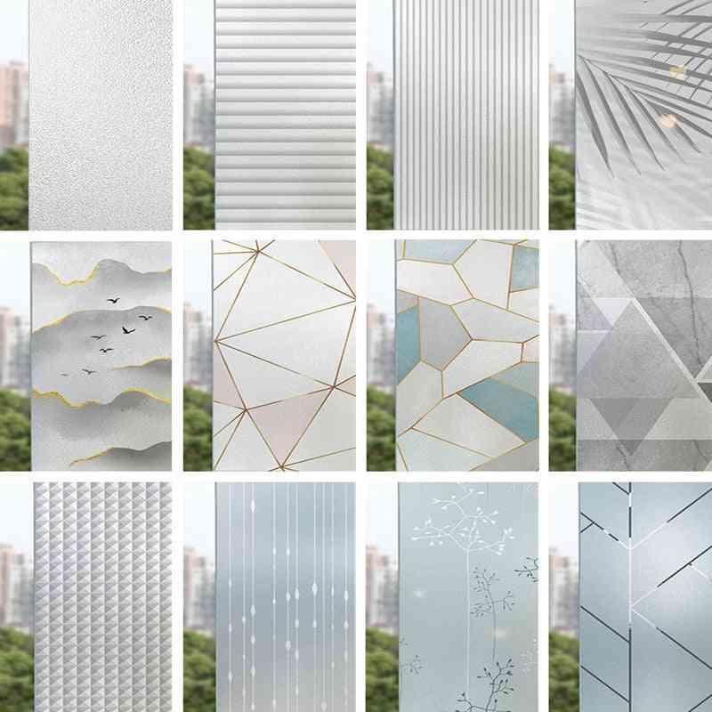 Landscape Pastoral Pattern Window Frosted Glass Sticker