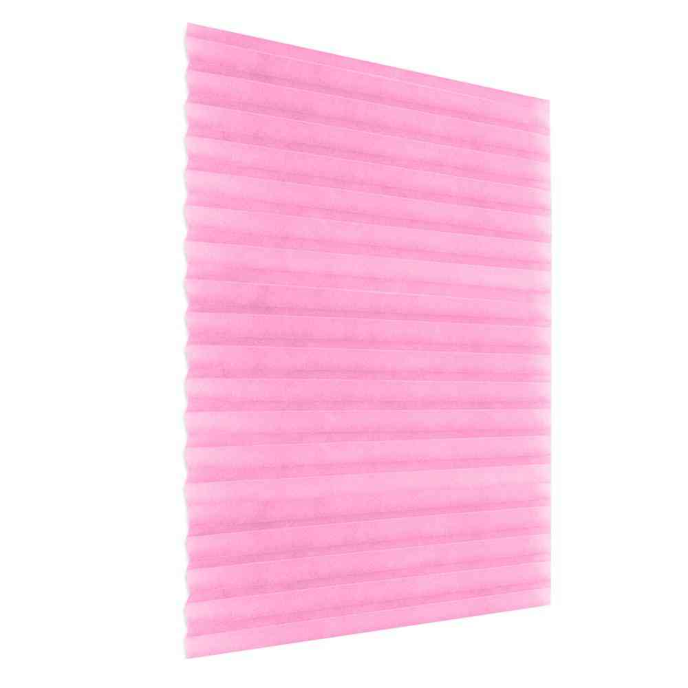 Self-adhesive Pleated Blinds Half Blackout Curtains
