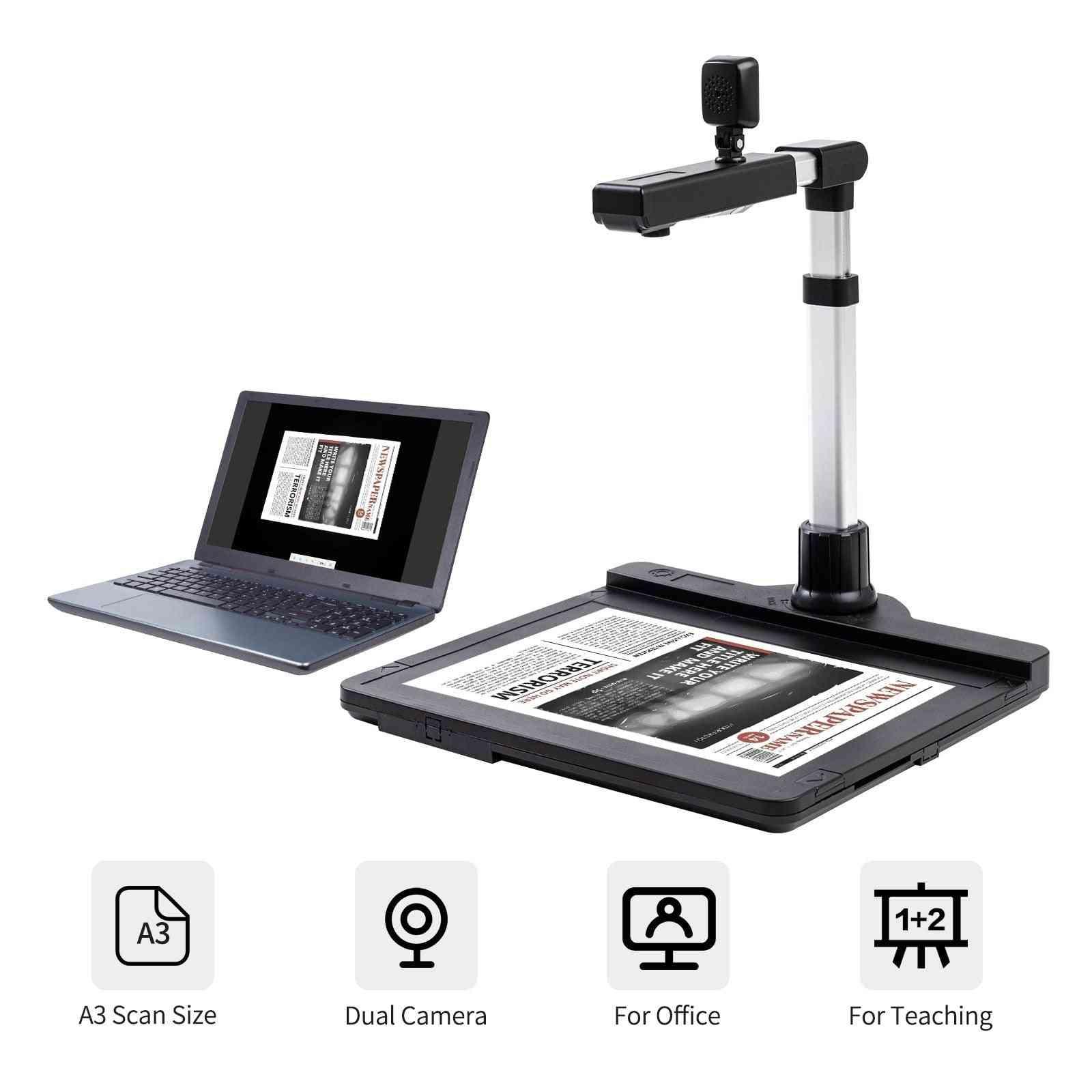 Document Camera Scanner A3 Capture Size Dual Camera Scanner