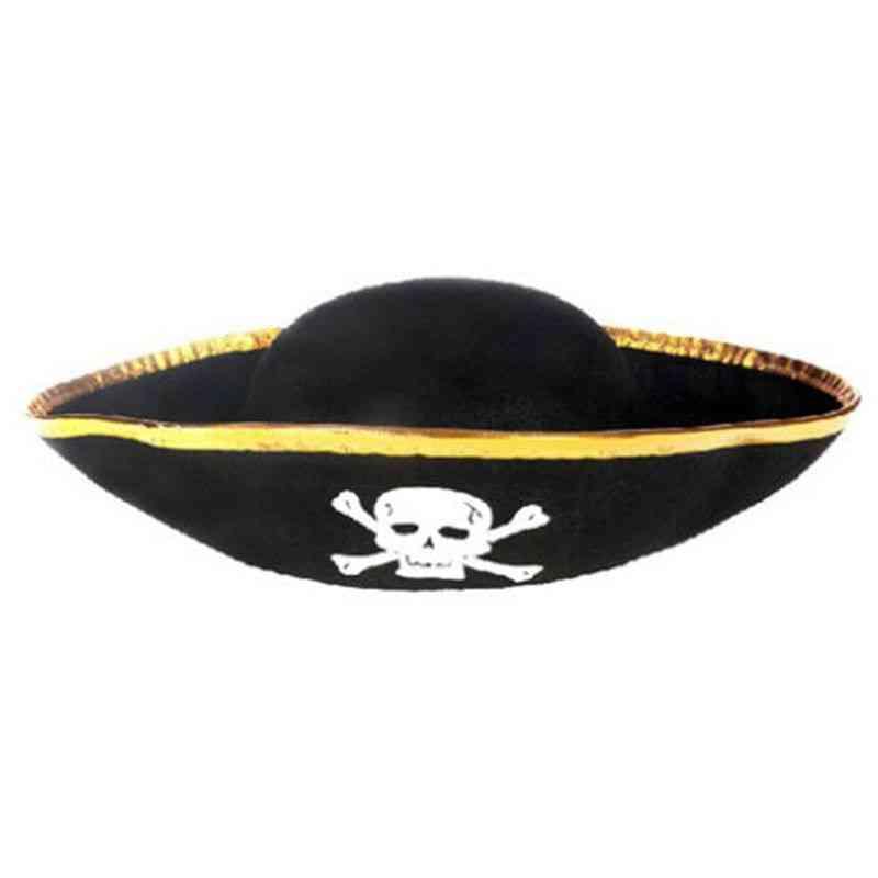 Tri Corner Pirate Hat - Three-cornered Buccaneer Costume Accessory