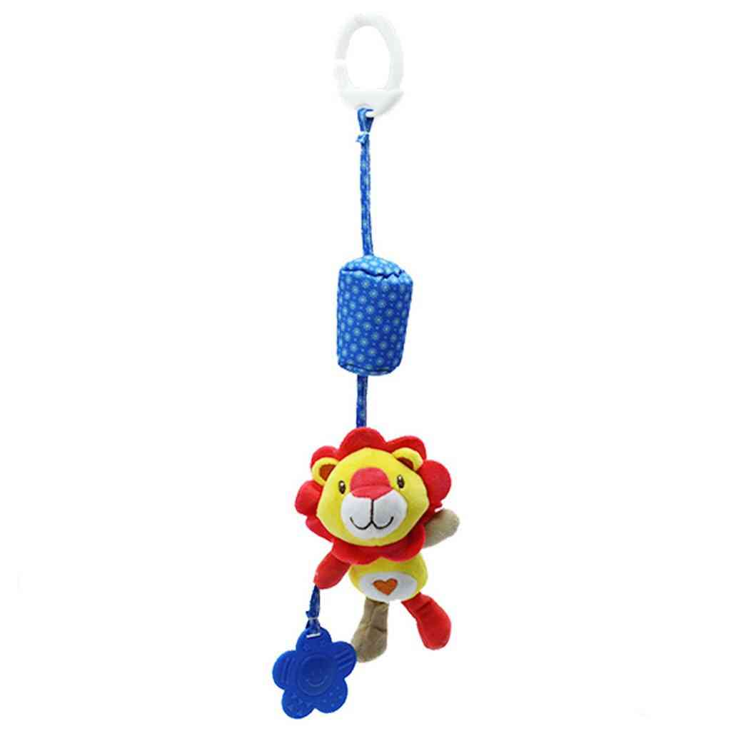 Animal Plush Toy Wind Chime Spiral Bed Cart Accessories Baby Rattles Car Pendant Cute Animals Crib Mobile