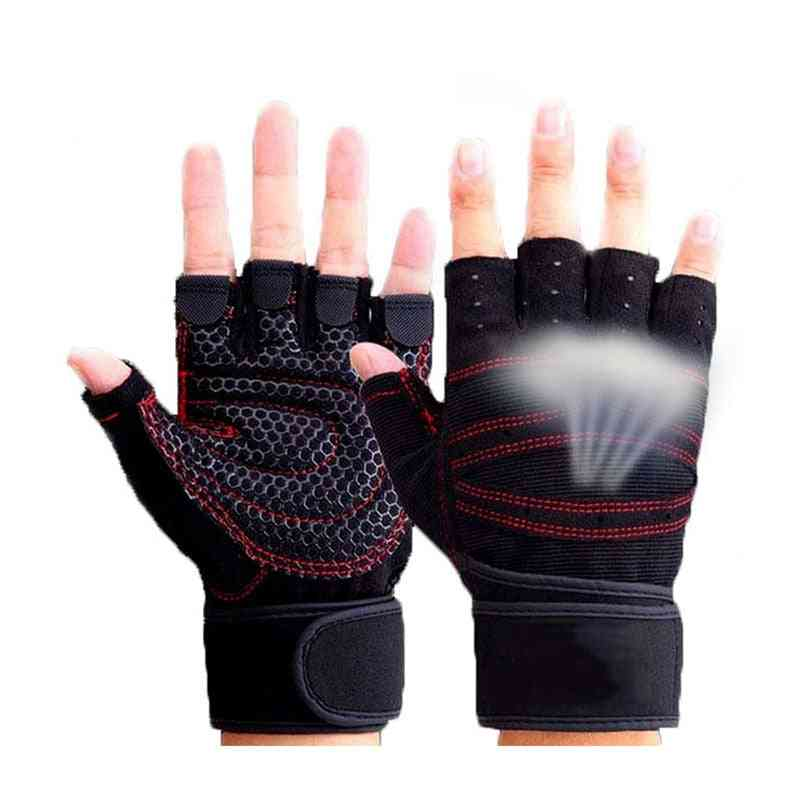 Half Finger Sports Exercise Weight Lifting Gloves