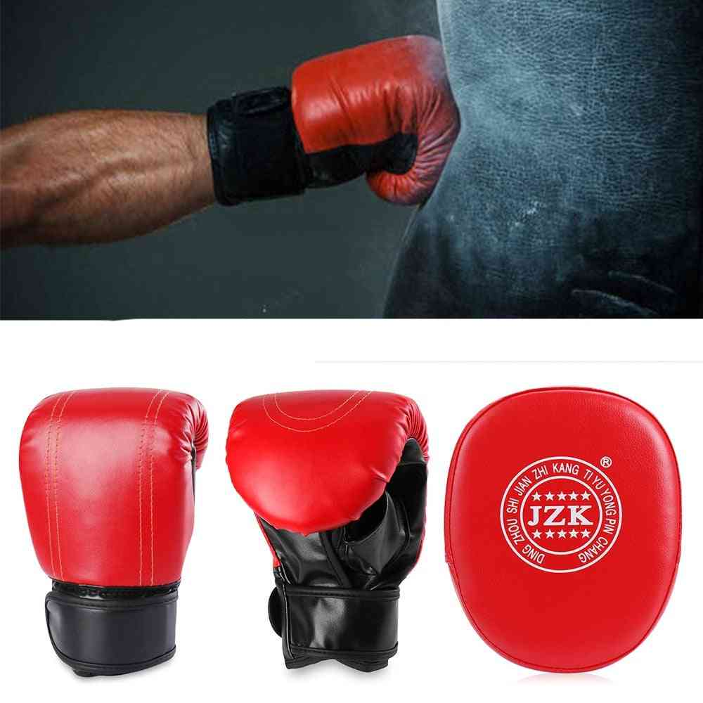 Professional Boxing Gloves Focus Pads Set