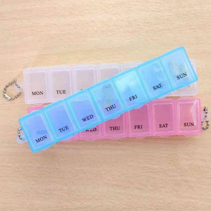A Week Portable Medicine Dispenser Travel Pill Box