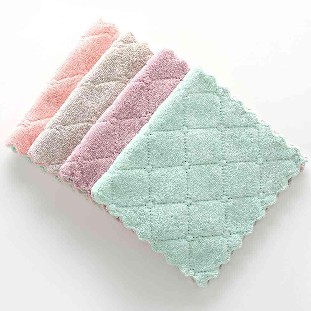 Nonstick Oil Coral Velvet Hanging Hand Towels