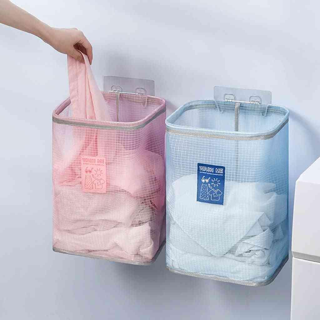 Laundry Hamper Clothes Basket Cotton Washing Bag