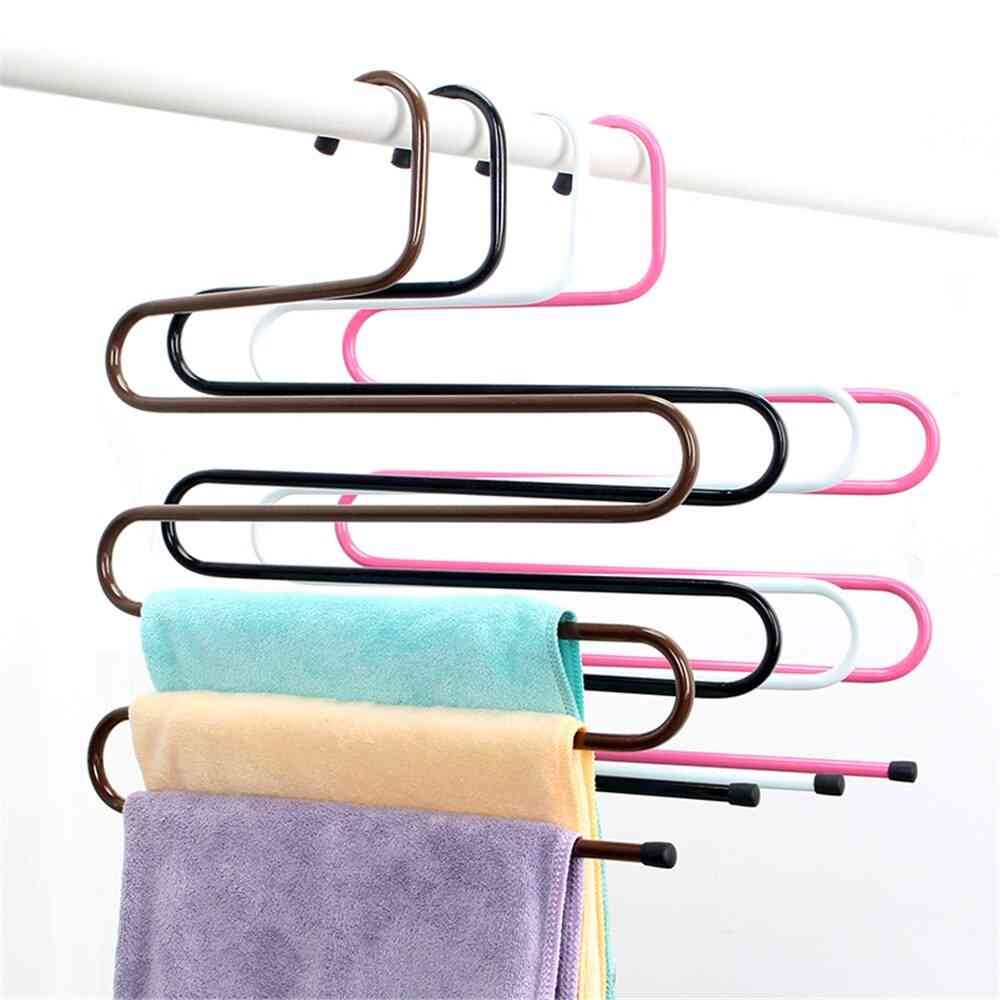 Storage Organization Space Saving Trousers Drying Rack Hanger Towel