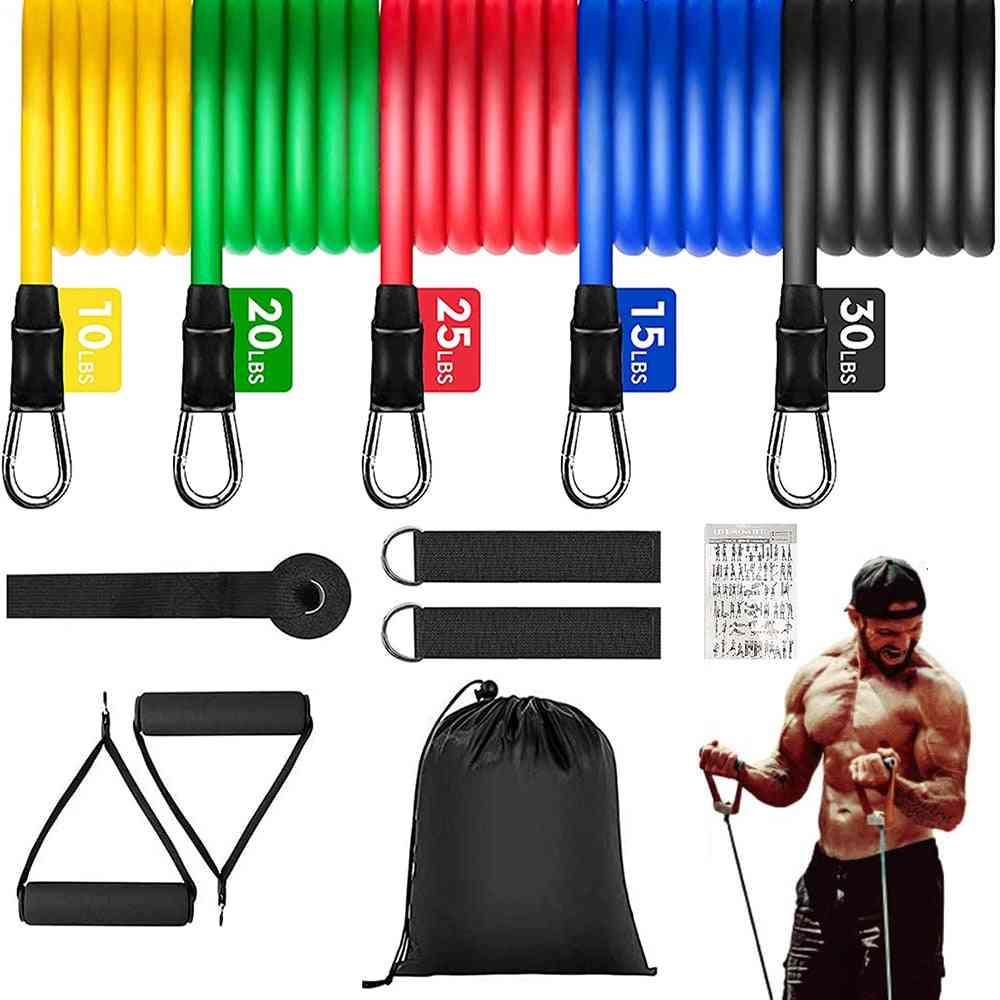 Portable Fitness Equipment Adjustable Weight Training Elastic Band Home Gym Equipment