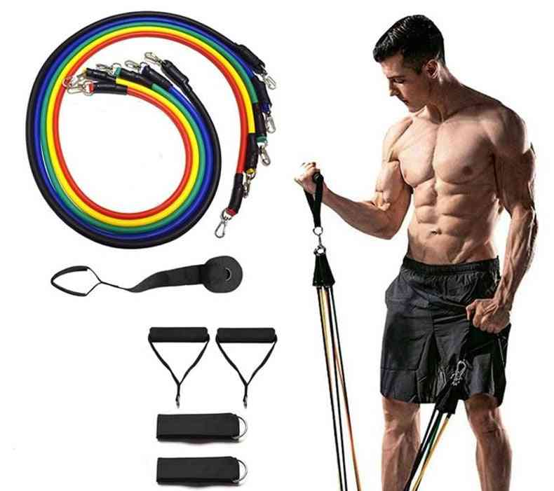 11 Pcs Workout Resistance Bands Sets Gym Equipment Rubber For Sports Exercise Pull Rope