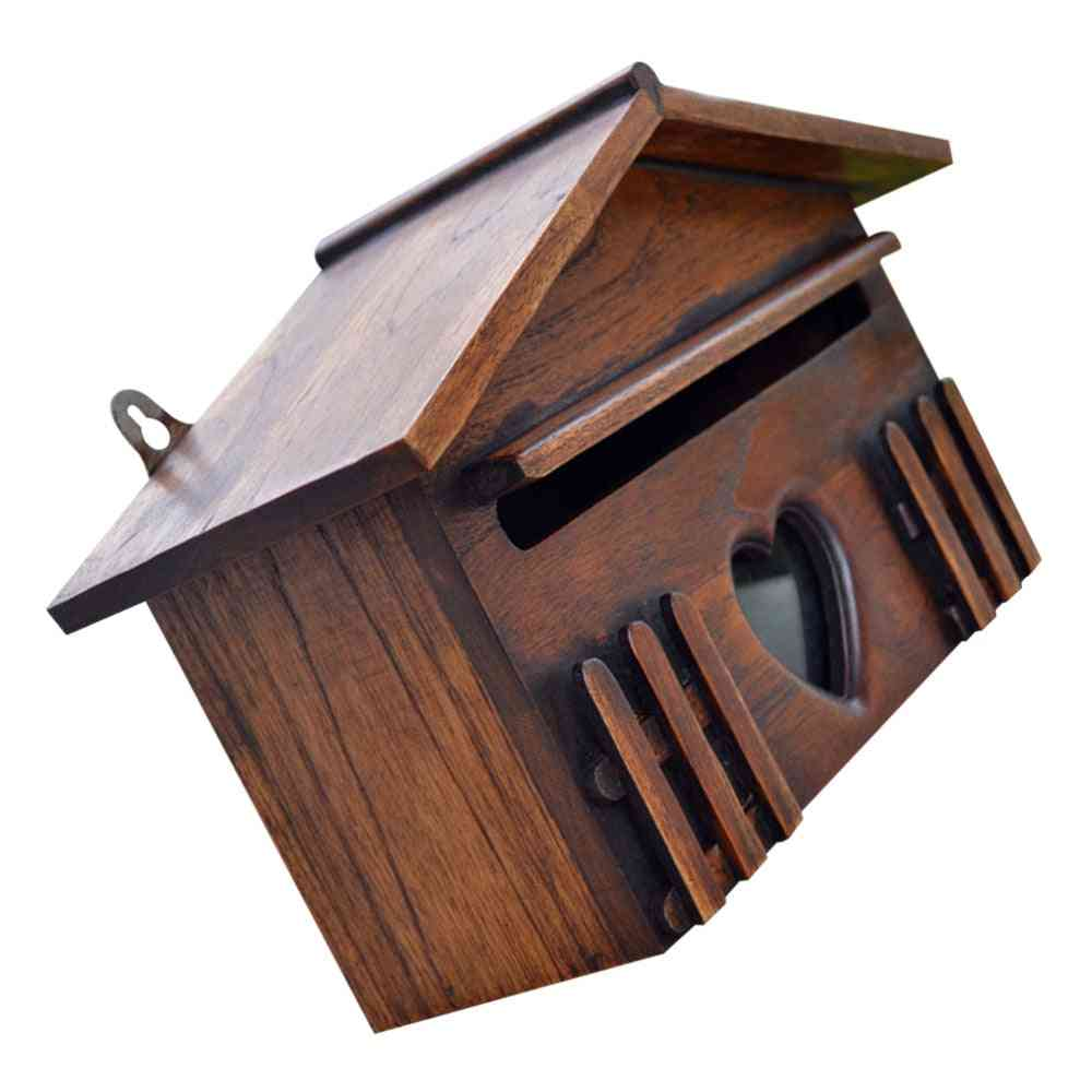 Creative Wooden Outdoor Mailbox