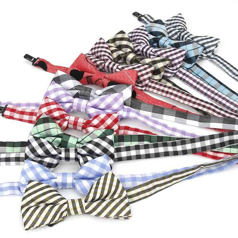 Classical Plaid Baby Butterfly Striped Bow Tie
