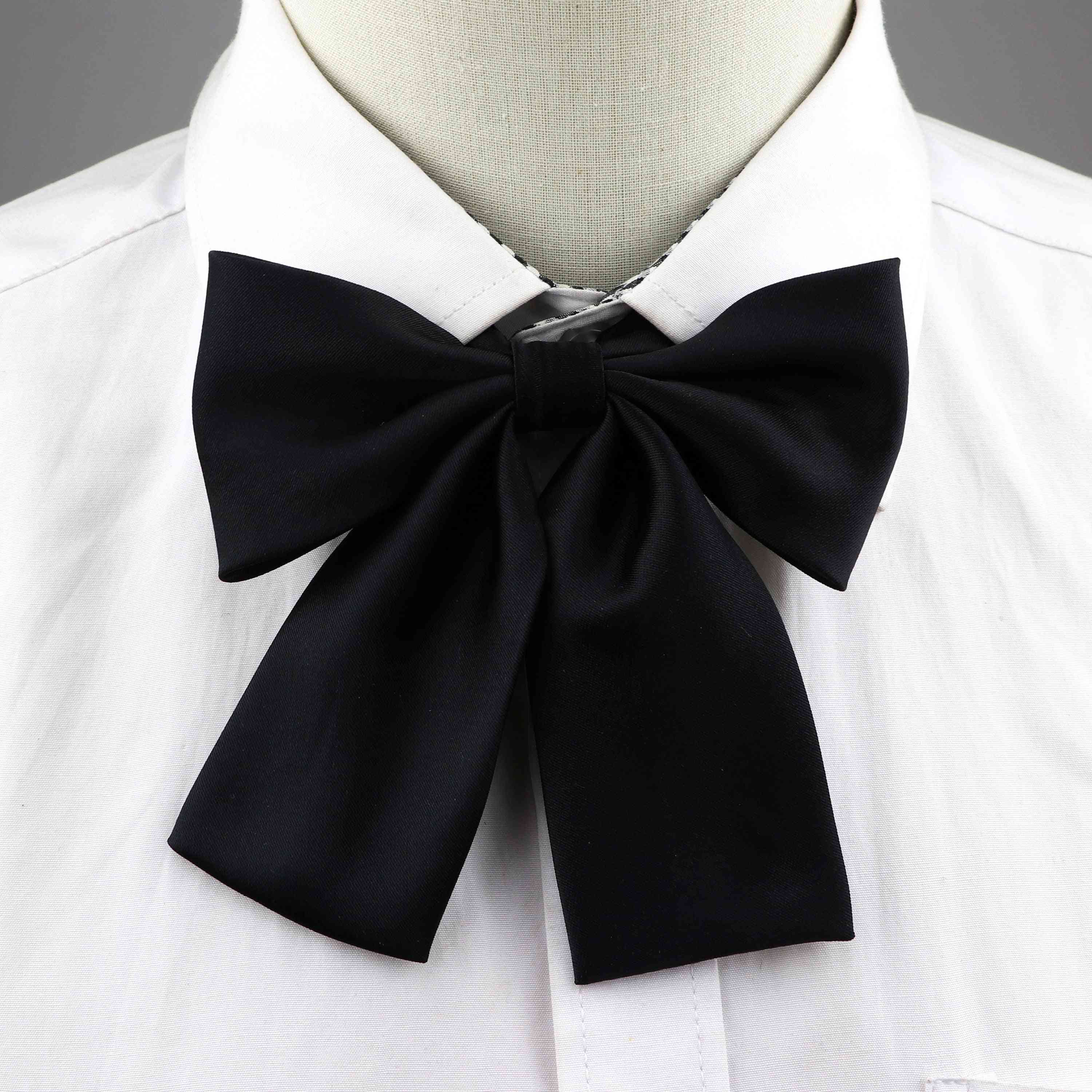 Colorful Women's Shirts Classic Butterfly Bowtie