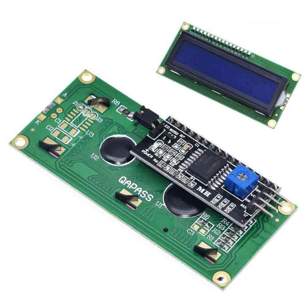 1pcs/lot Lcd Module Blue Green Screen Iic/i2c 1602