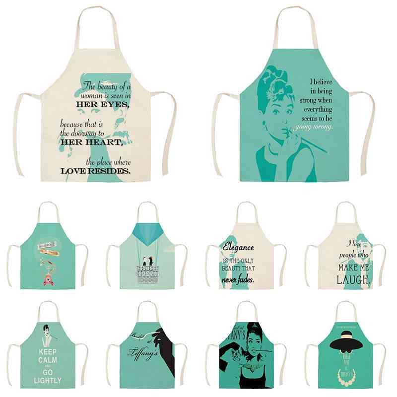 Pillow Case Character Audrey Hepburn Design Kitchen Aprons