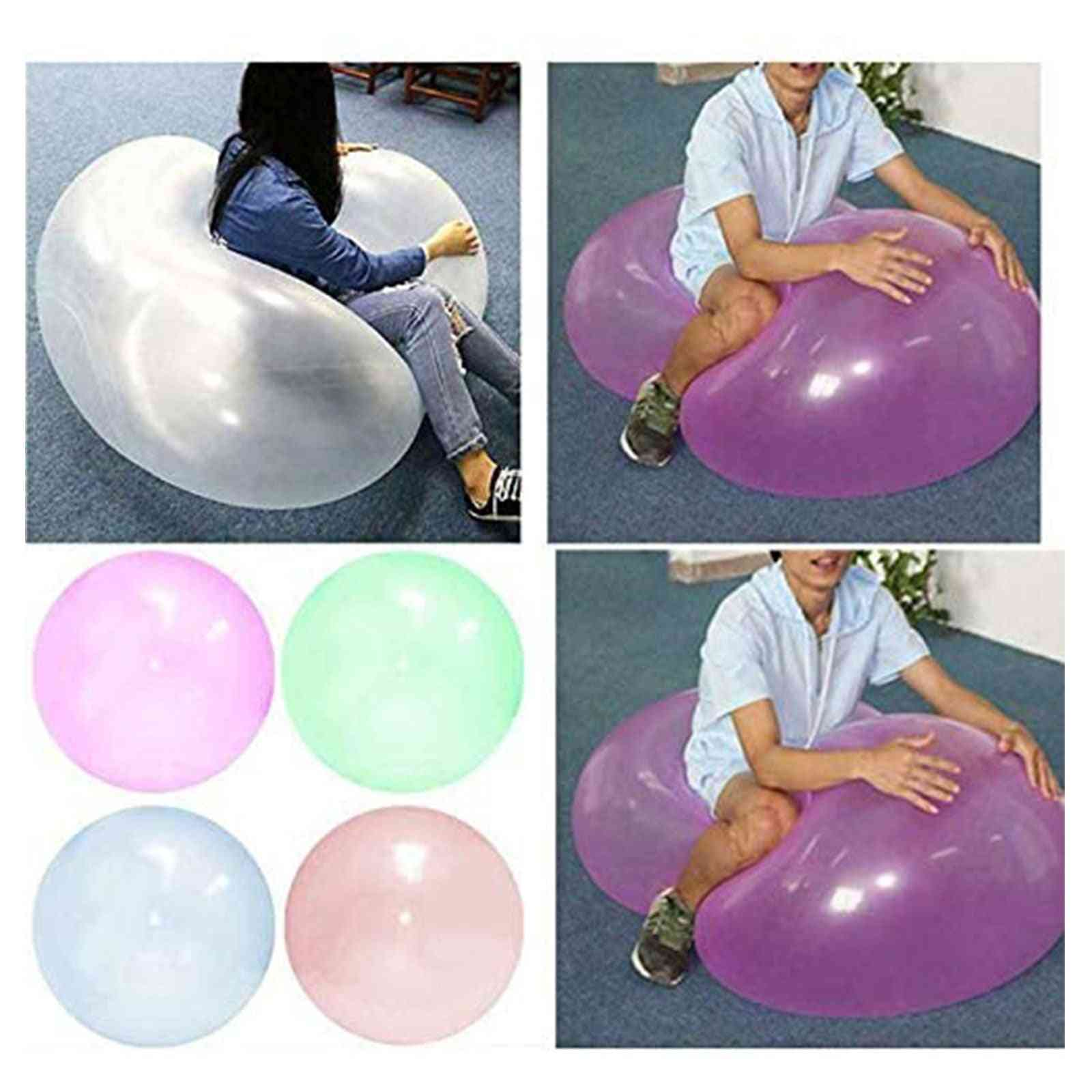 Solid Inflatable Squeeze Ball Transparent Bubble Ball Adult Anti-anxiety Stress Relief Water