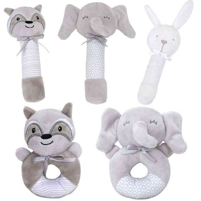 Baby Rattles Mobiles Toddler Bed Hanging For Newborn Soft Hand Bell Animal Musical Montessori