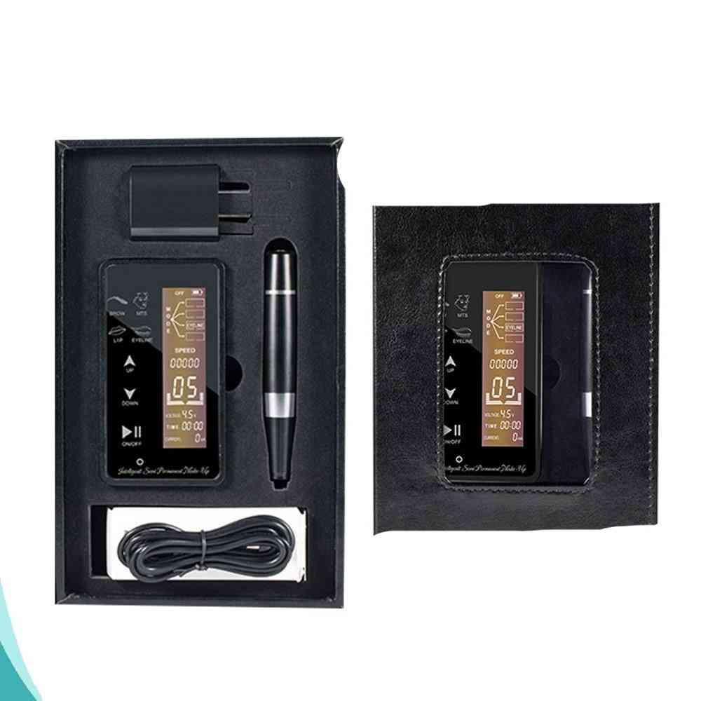Digital Tattoo Machine Eyebrow Design Tools Pen Needle Cartridge Semi-permanent Makeup Beauty Pen With Lcd Screen